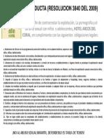 Codigo de Conducta (Resolucion 3840 Del 2009 Enmarcar