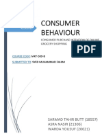 CONSUMER PURCHASE INTENTION OF ONLINE GROCERY SHOPPING