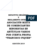 Estatuto Orgánico Francisco Piker