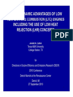 THERMODYNAMIC ADVANTAGES OF LOW TEMPERATURE COMBUSTION (LTC) ENGINESTEMPERATURE ENGINES INCLUDING THE USE OF LOW HEAT REJECTION LHR) CONCEPTS