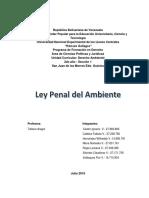 Ttrabajo Sobre Ley Penal Del Ambiente