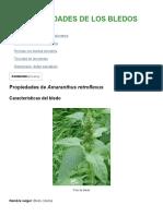 Propiedades de Los Bledos – Botanical-Online
