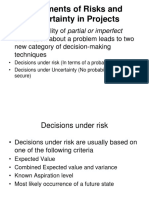 Risks and Uncertainities in Projects