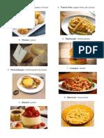 20 Comida en Ingles