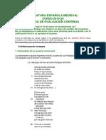 PEC Literatura Española Medieval