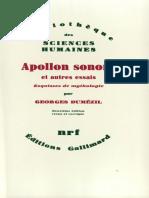 Apollon Sonore et autres essais