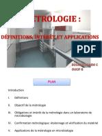 metrologie microbiologie