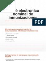 Carnet Electrónico Nominal de Inmunizaciones
