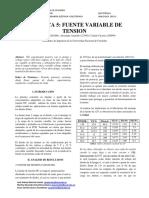 Informe 5, Fuente Variable