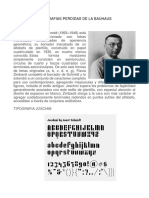 Tipografias Perdidas de La Bauhaus