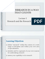 Basics of Research