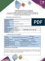 Guia de Actividades y Rúbrica de Evaluación - Paso 3 - Evaluar El Cumplimiento de Las Políticas y Lineamientos en El Desarrollo Del Proyecto Educativo Institucional