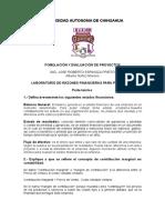 Laboratorio de Razones Financieras Para Proyectos