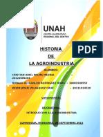Historia de La Agroindustria