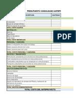 propuesto y cronograma