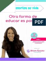 Tema 1 Montessoriza Tu Vida. Miriam Escacena