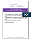 pain management guidelines kit for aged care