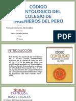 Código Deontologico Del Colegio de Ingenieros Del Perú