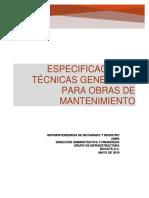 especificaciones tecnicas generales para obras de mantenimiento