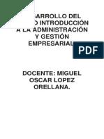 Desarrollo Del Curso de Int. Adm. y Negocios Empresariales.
