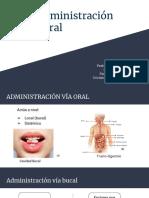 Via Administracion Oral y Bucal