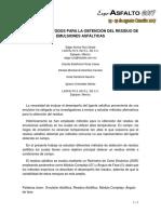 8 Analisis de Metodos Para La Obtencion Del Residuo de Emulsiones Asfalticas Isn