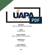 Trabajo Final Ética Profesional de Psicólogo