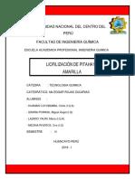 Liofilizacion de Pitahaya Amarilla