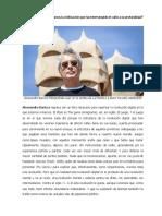Nota periodística a Alessandro Baricco