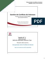 Curso Conflicto de Intereses - Sesiones 1