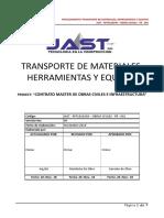 JAST - RFP1810349 – OBRAS CIVILES - PR - 001 Transporte de Materiales, Herramientas y Equipos Rev 0
