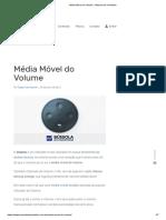 Média Móvel Do Volume - Bússola Do Investidor