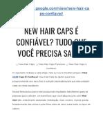 → New HAIR Caps É Confiavel Mesmo? É Fraude? TUDO QUE VOCÊ PRECISA SABER!