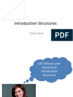 (Fourth Meeting) Introduction Structures