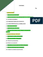 Contenido Formulación y Evalución de Proyectos