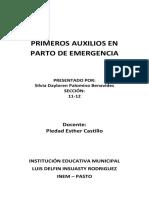 Primeros Auxilios en Parto de Emergencia