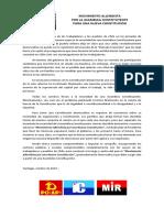Declaración Movimiento Allendista para una Nueva Constitución - 26oct2019