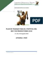 Plan de Trabajo Festival Gastronomico y Artesania 1