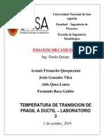 Transicion de Temperatura Fragil Terminado- Ductil