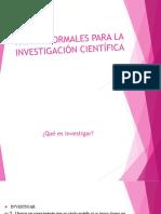 2019-10-15 - Instituto Leonardo Murialdo - Lengua III - Pautas Formales Para La Investigación Científica