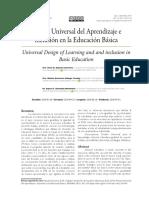 Diseño Universal del Aprendizaje e inclusión en la Educación Básica