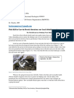 9-30-19 Garvin Brook Fish Kill Impacts Our Drinking  Water