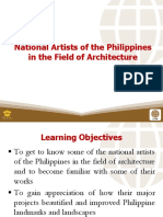 4 National Artists of the Philippines in the Field of Architecture123