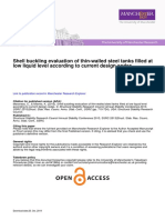 Shell Buckling Evaluation Thin-walled Steel Tanks Filled Low Liquid Level