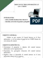 Control interno en el área informática y los  COBITS