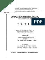 Tesis. Aplicación de Las Herramientas Jflex y Cup