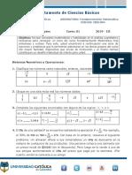 Taller Preconceptos Fundamentación Matemática 2019-3 Tarea