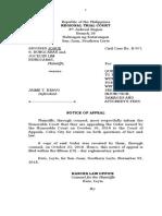Bungcaras vs Bravo (Notice of Appeal)