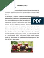 Fundamento Teorico de Fruta Confitada