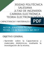 Capacitancia y Materiales Dielectricos